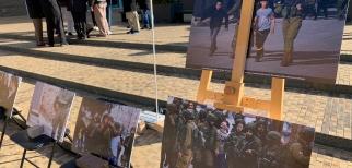 معرض صور حول الأسرى في أودنسي أقامته المبادرة الأوروبية للدفاع عن الأسرى الفلسطينيين