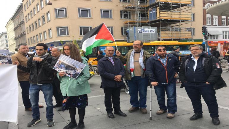 وقفة شعبية في كوبنهاغن في الذكرى 71 لاحتلال فلسطين