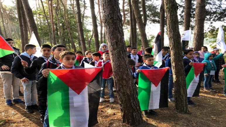 الجالية الفلسطينية تقيم مخيم الكشاف الفلسطيني الأول في هولندا