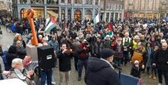 نصب تذكاري لمفتاح العودة الفلسطيني في قلب ساحة الدام الهولندية