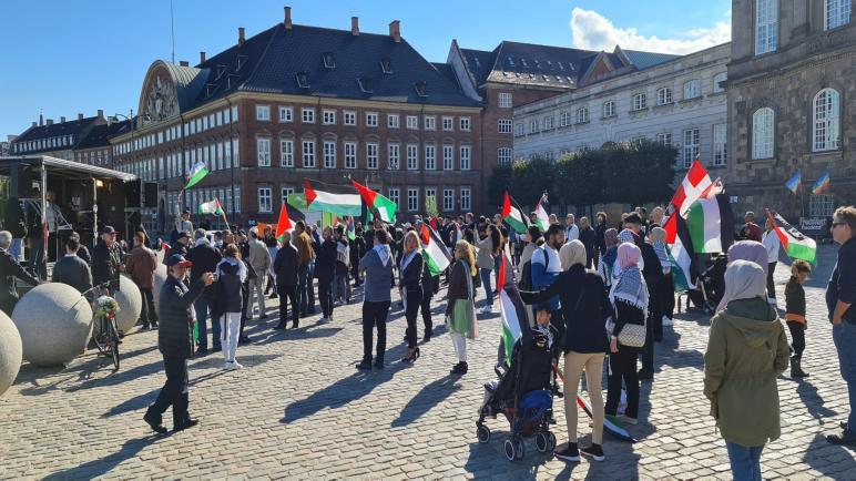 المؤسسات الفلسطينية والدنماركية تقيم اعتصاما أمام البرلمان الدنماركي للتضامن مع الأسرى الفلسطينيين
