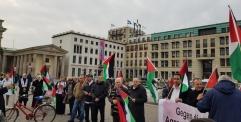 وقفة في برلين تضامنا مع قرية الخان الأحمر ومسيرات العودة الكبرى