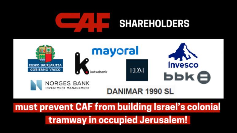 """حركة BDS تقود حملة للضغط على شركة CAF الدولية التي ستقوم بانشاء قطار إسرائيلي في القدس: """"اخرجوا من الشيخ جراح"""""""