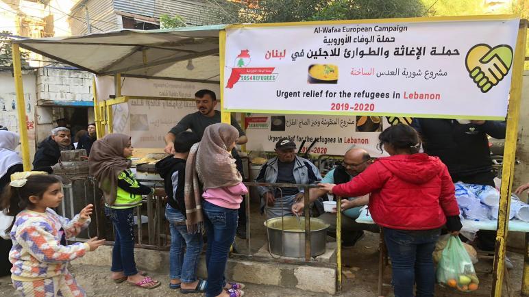 """""""الوفاء الأوروبية"""" تبدأ حملتها الإغاثية العاجلة لدعم فلسطينيي لبنان"""