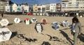 معرض للطائرات الورقية على شاطيء مدينة VLISSINGEN الهولندية للتضامن مع غزة