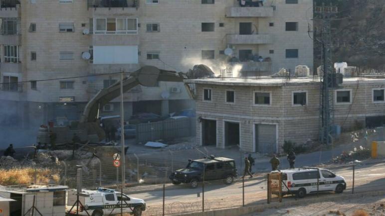 الكيان الإسرائيلي هدم رقماً قياسياً من المباني الفلسطينية في القدس الشرقية بشهر أغسطس الماضي