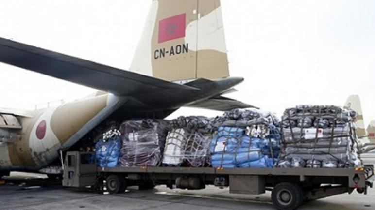 وصول امدادات اغاثية مغربية الى مطار القاهرة تمهيدا لإدخالها إلى قطاع غزة