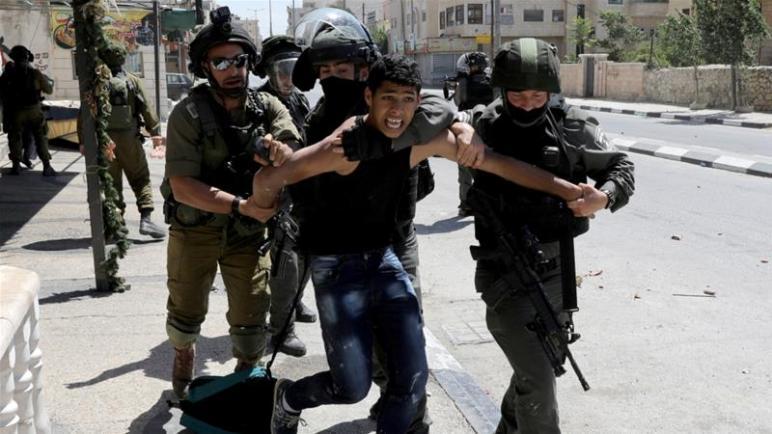 الكيان الإسرائيلي اعتقل خلال الشهر الماضي 357 فلسطينياً بينهم 48 طفل وأربع نساء
