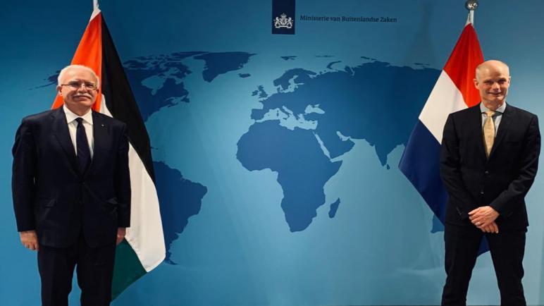 الحكومة الهولندية تطلب توضيحاً من الكيان الإسرائيلي حول سحب تصريح سفر وزير الخارجية الفلسطيني