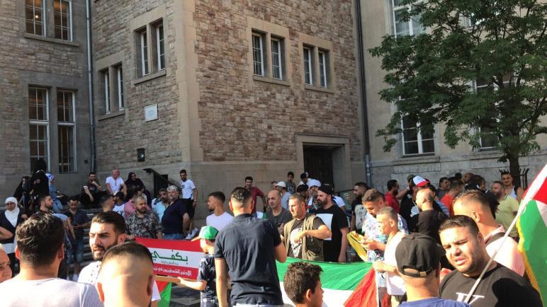 الجالية الفلسطينية في ألمانيا تقيم وقفة تضامنية مع فلسطينيي لبنان