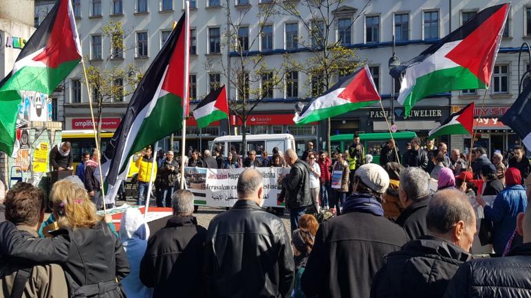 وقفات تضامنية في ألمانيا بذكرى يوم الأرض الفلسطيني