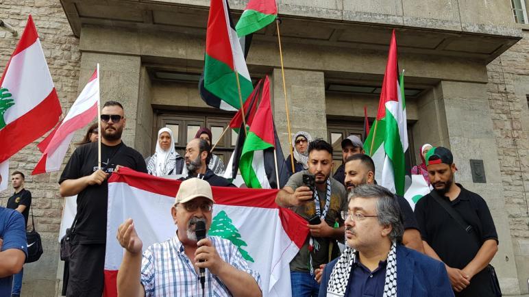 وقفة تضامنية في برلين دعما لحراك اللاجئين الفلسطينيين في لبنان