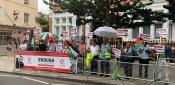 مؤسسات فلسطينية تقيم وقفة تضامنية في لندن مع حراك اللاجئين الفلسطينيين في لبنان