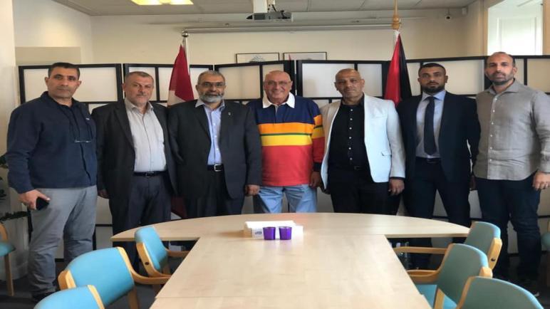"""مؤتمر فلسطينيي أوروبا"""" يزور السفير الفلسطيني في الدنمارك لدعوته للمشاركة في النسخة الـ19 للمؤتمر"""