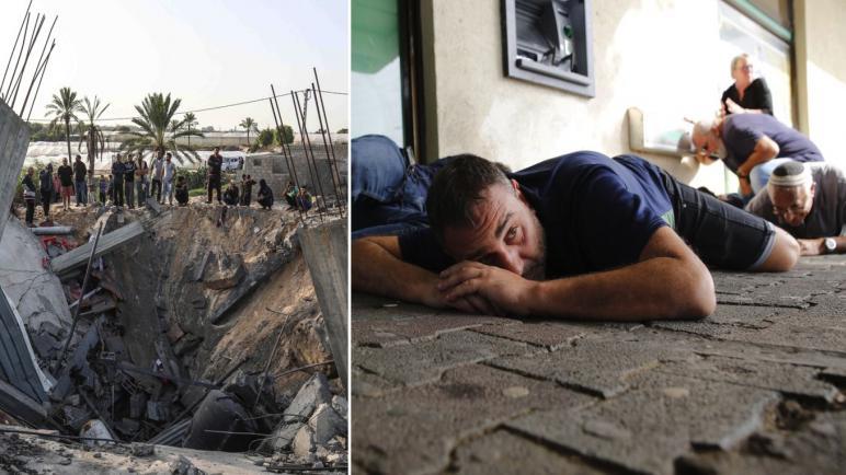 لليوم الثاني: استمرار اطلاق الصواريخ من غزة على الكيان الإسرائيلي الذي يرد بغارات انتقامية