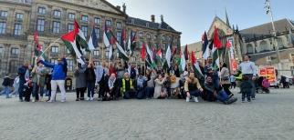 الجالية الفلسطينية في هولندا تحيي يوم الأرض بوقفة تضامنية في أمستردام