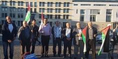 وقفة تضامنية في برلين مع أهالي الخان الأحمر ومسيرات العودة الجمعة 12-10-2018