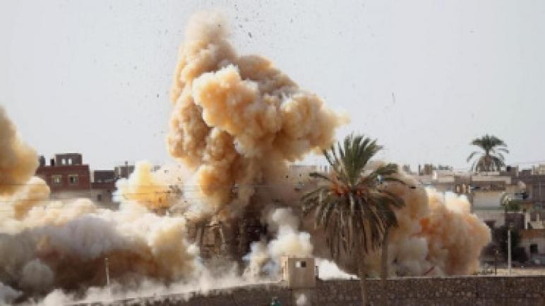 يستمر الجيش المصري في تدمير أنفاق تهريب حماس على حدود غزة