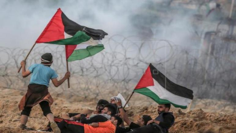 أصيب ما لا يقل عن 13 فلسطينيا برصاص الجيش الإسرائيلي في اشتباكات اليوم بغزة