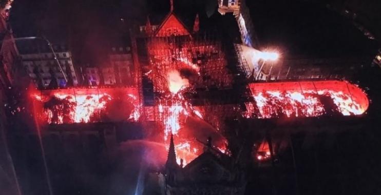 حاخام صهيوني في باريس: حريق كتدرائية نوترادم هو انتقام إلهي لحرق التلمود في القرن الثالث عشر