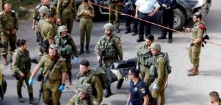 وفاة شاب فلسطيني بعد محاولة طعن جندي اسرائيلي بسكين في الضفة الغربية