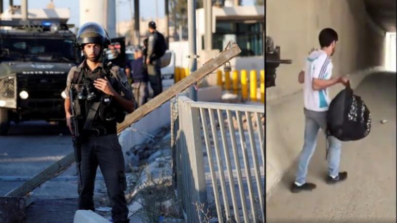 تسريب فيديو لضابطة إسرائيلية تطلق الرصاص المطاطي على فلسطيني أعزل في الظهر