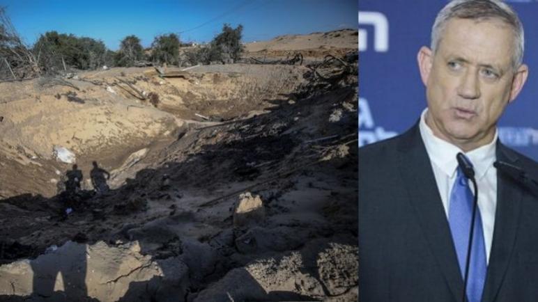 القذائف من غزة تجبر غانتز على الإختباء في ملجأ واسرائيل ترد بقصف مواقع لحركة حماس