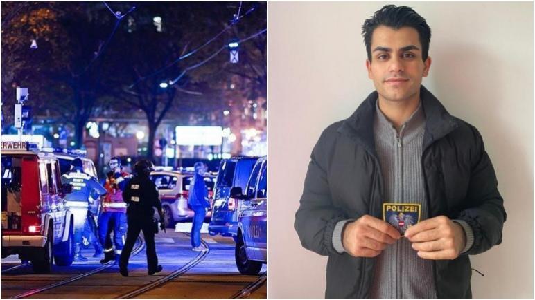 منح نجمة الشرطة النمساوية لشاب فلسطيني تقديراً لشجاعته أثناء هجوم إطلاق النار في فيينا