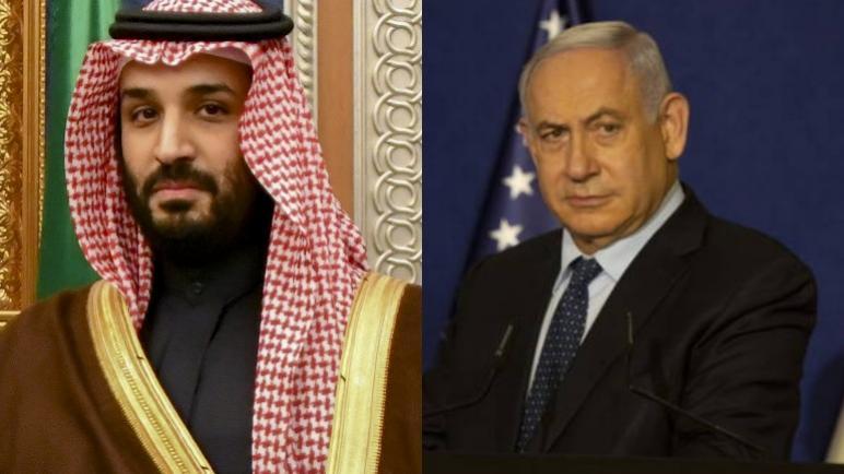 لقاء سري بين ولي العهد السعودي بن سلمان ورئيس وزراء الكيان الإسرائيلي نتنياهو