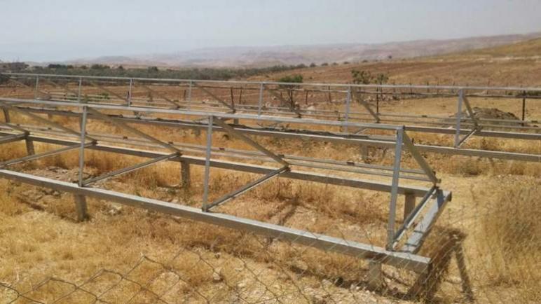 الكيان الإسرائيلي يستولي على الألواح الشمسية التي تبرعت بها الحكومة الهولندية للفلسطينيين