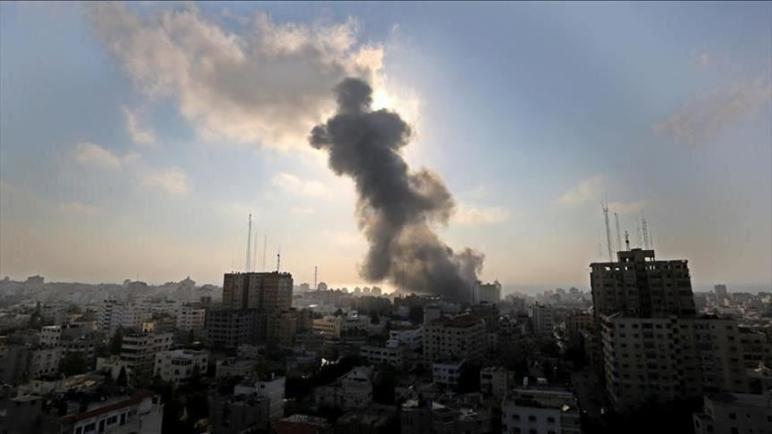 مائة غارة جوية نفذها الكيان الإسرائيلي على أهداف لحركة حماس في قطاع غزة