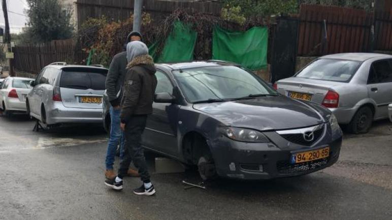 أعمال تخريب وكراهية معادية للعرب في حي شعفاط بمدينة القدس