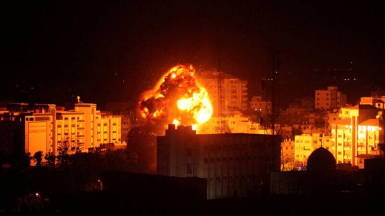 الكيان الإسرائيلي يقصف 15 هدفا لحماس والجهاد الإسلامي في قطاع غزة