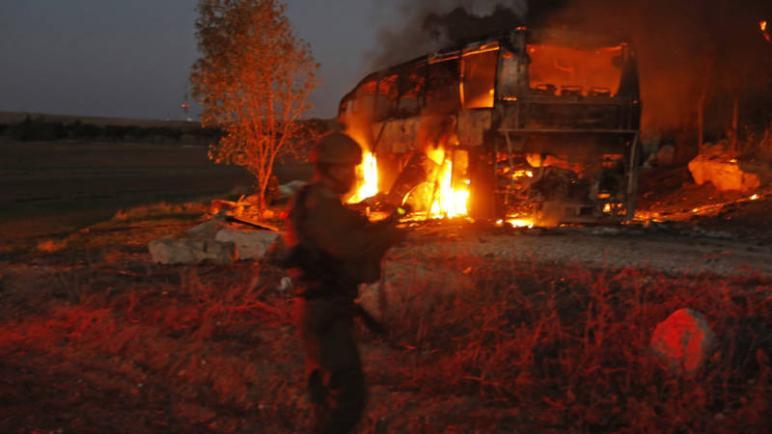 صحيفة NOS الهولندية – اطلاق قذائف هاون من قطاع غزة على حافلة ركاب اسرائيلية
